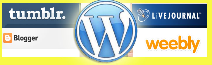 wordpress, blogger, blog